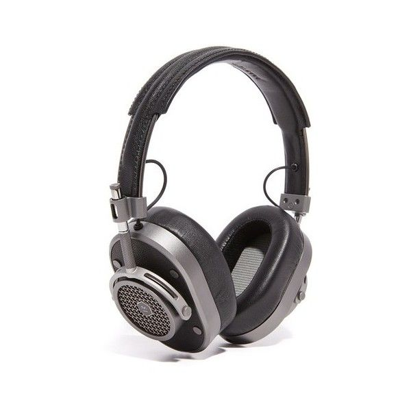 Master & Dynamic MH40 Over Ear Headphones ($400) ❤ liked on Polyvore featuring men's fashion, men's accessories, men's tech accessories and mens leather accessories