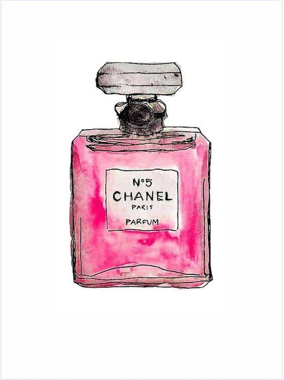 Imagens para quadrinhos - poster para imprimir - perfume chanel - rosa -Blog Dikas e diy: