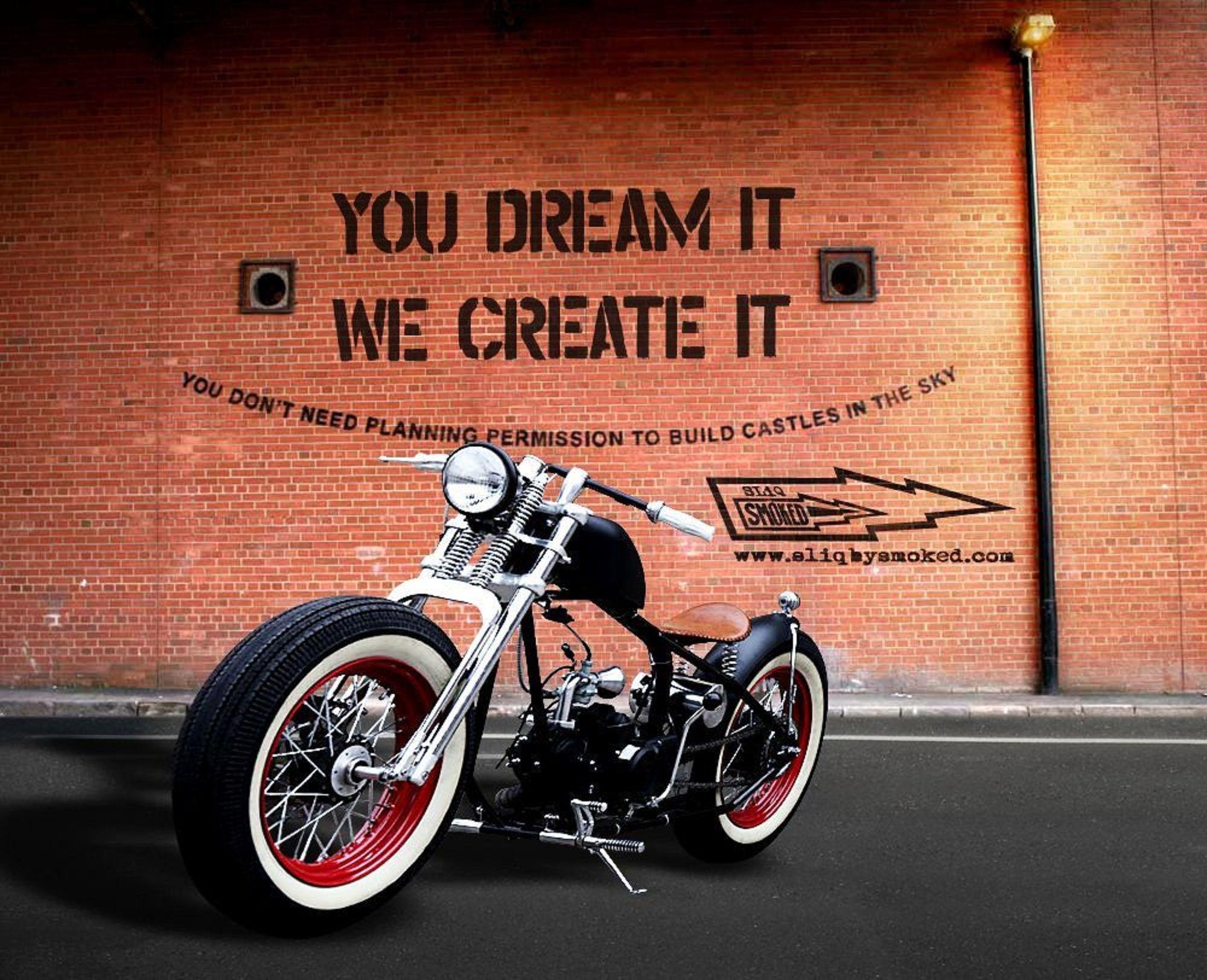 'Sliq By Smoked', 2015 Custom Motorcycle, 125cc, USA Old
