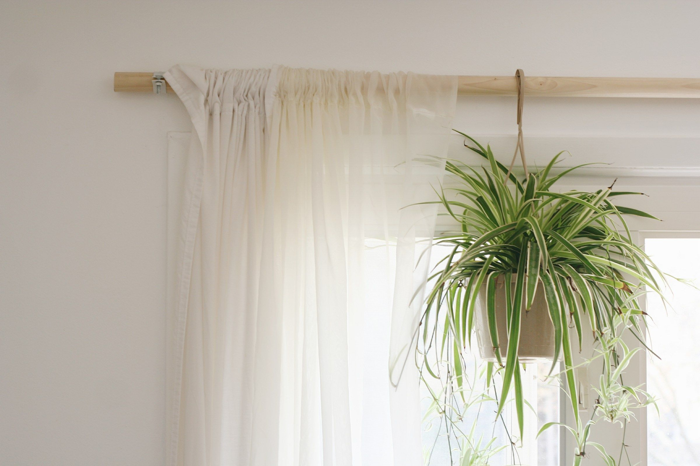 Diy Wooden Curtain Rod Wooden Curtain Rods Curtains Diy