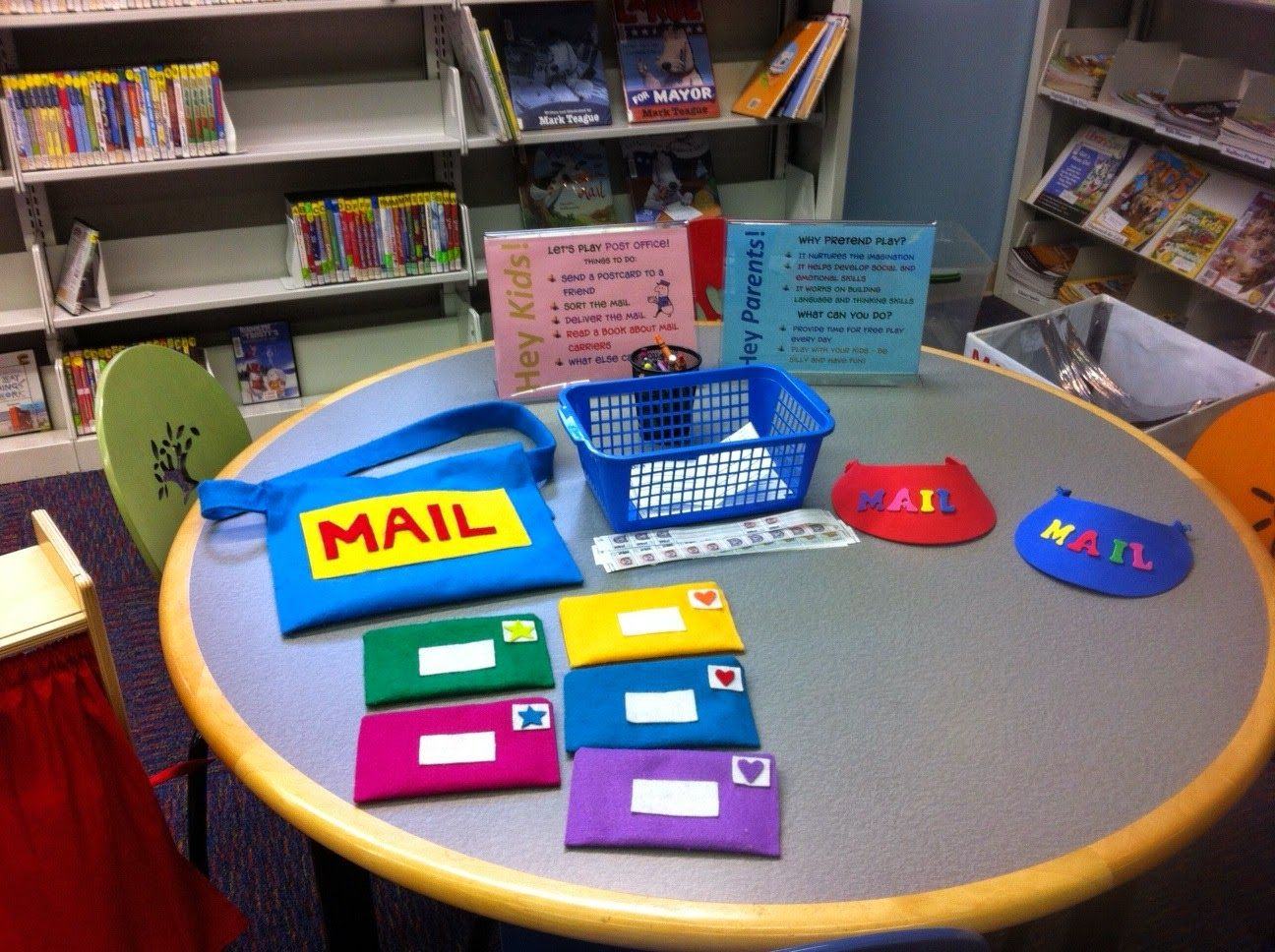 Library Village Imagination Station Let S Play Post Office