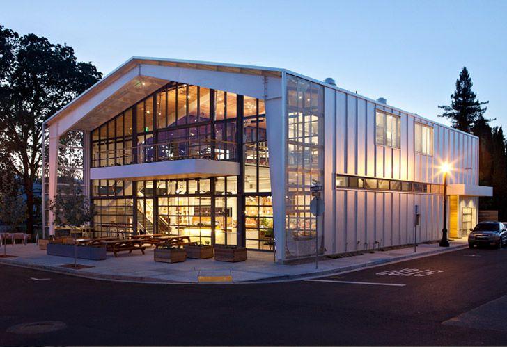 Jensen architects 39 green shed takes modern grange ideals for Butler building details