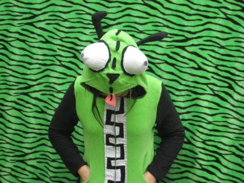 GIR hoodie!...could make this as a costume for the kids.