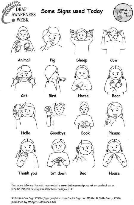 This is an image of Satisfactory Printable Sign Language