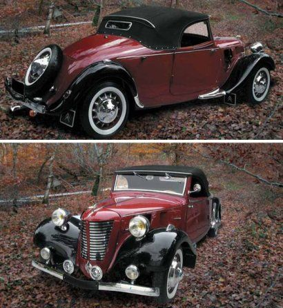 Citro n traction avant cabriolet by emile tonneline for Garage moto courbevoie