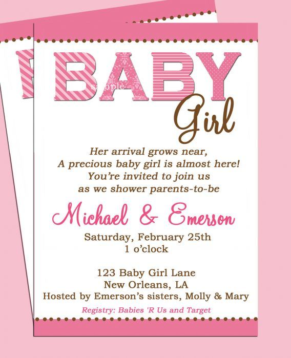 Baby Shower Baby Shower Girl Invitation Wording To Help Your - invitation wording for baby shower
