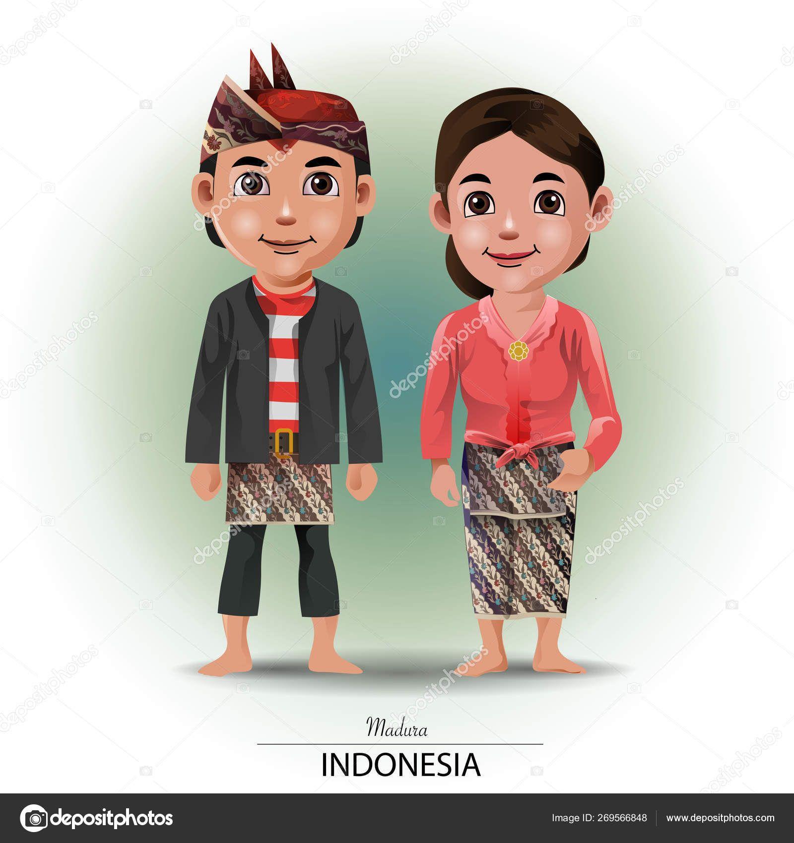 Kartun Pakaian Adat Sumatera Barat
