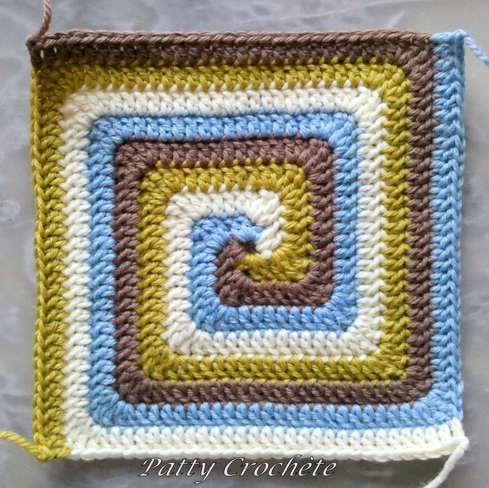 Cuadrado a crochet en espiral | Lana, tela y otras cosas lindas ...