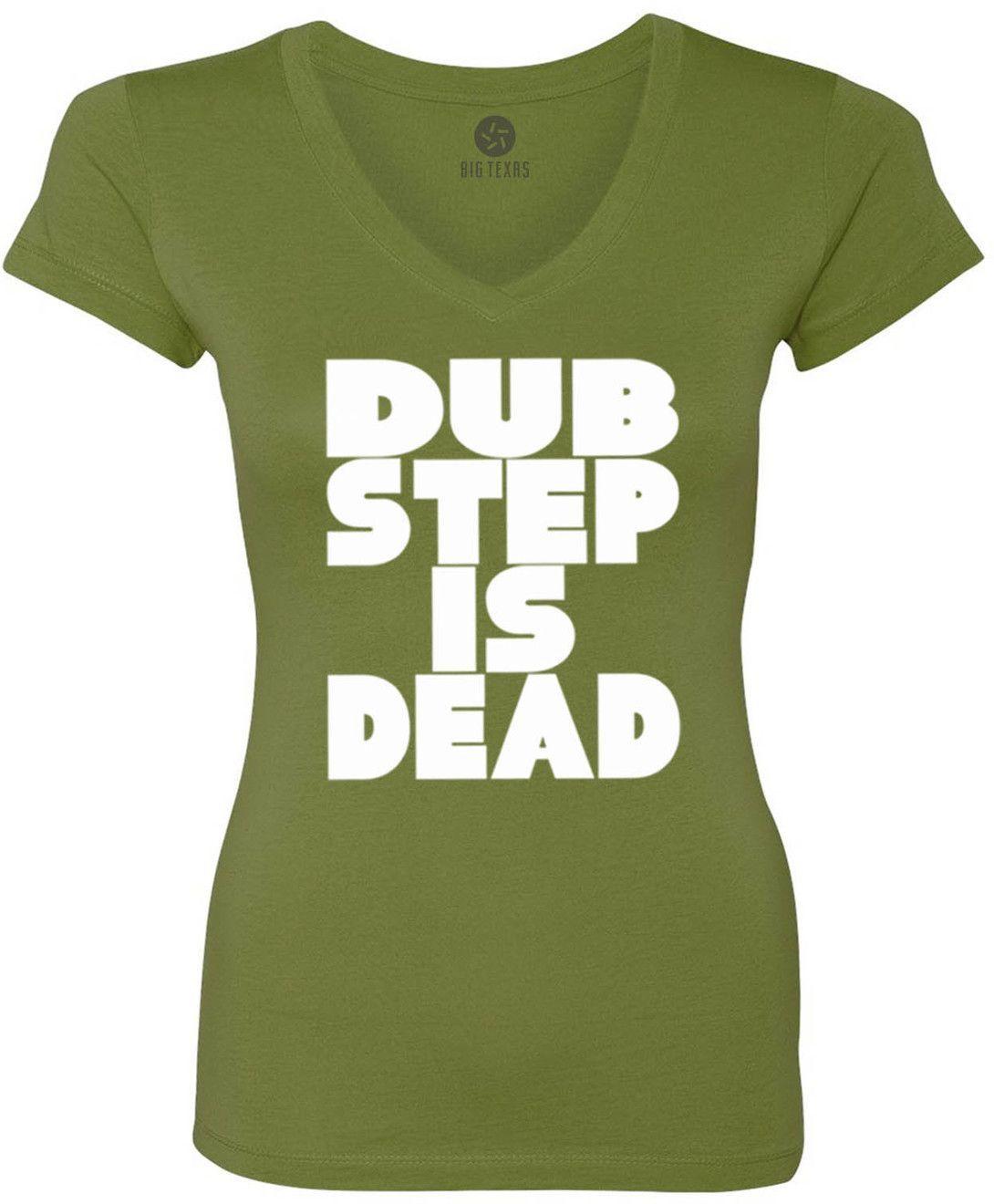 Dub Step is Dead (White) Women's Short-Sleeve V-Neck T-Shirt