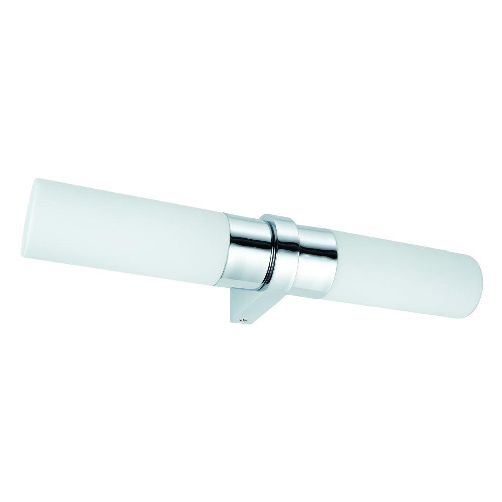 Applique de salle de bain 2 Lumières Verre/Chrome L44,5cm - SAPHIR ...