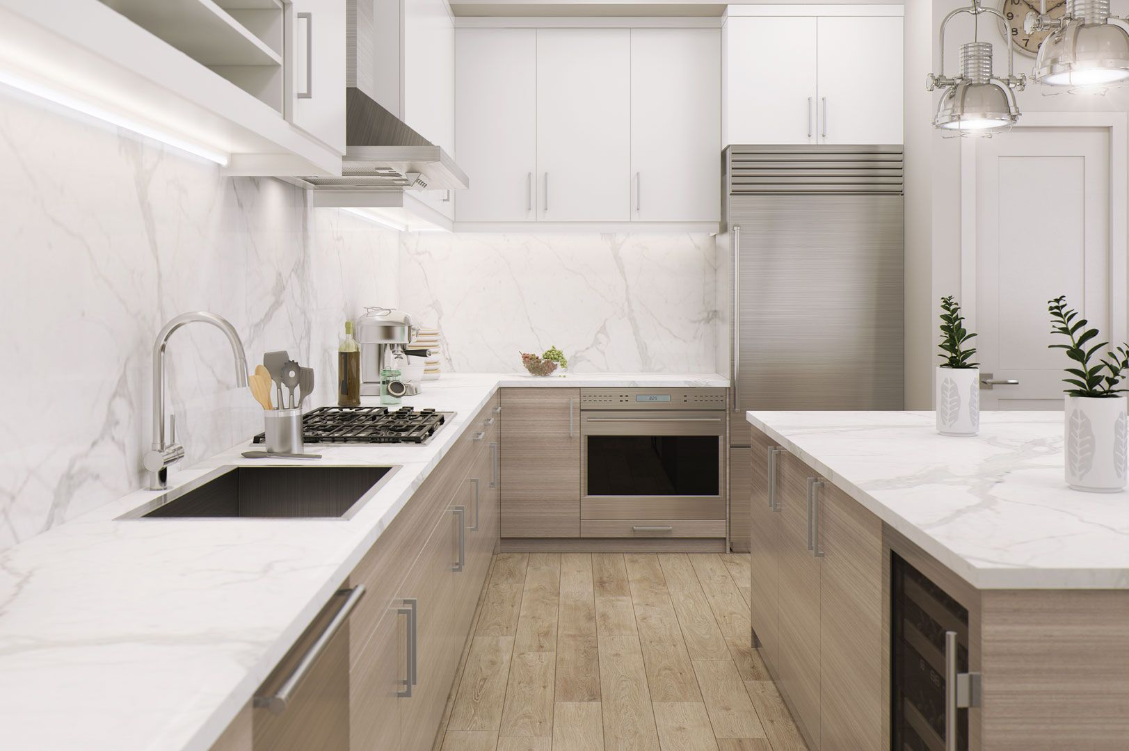 An airy SieMatic kitchen in the Wilshire Houston luxury condos in ...