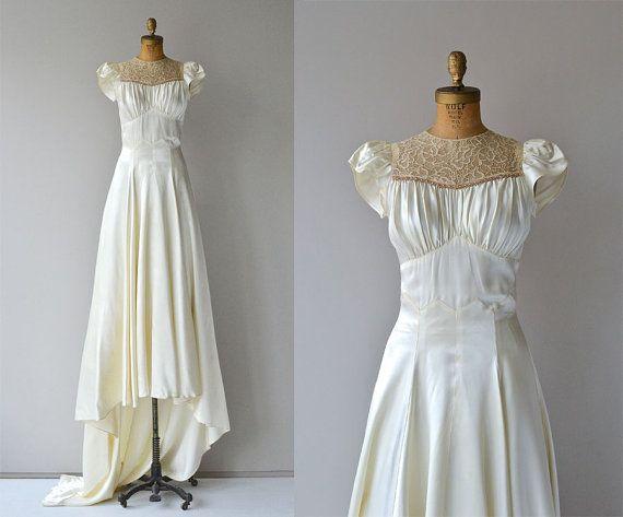 Aubade wedding gown | 1930s wedding dress • vintage 30s wedding dress