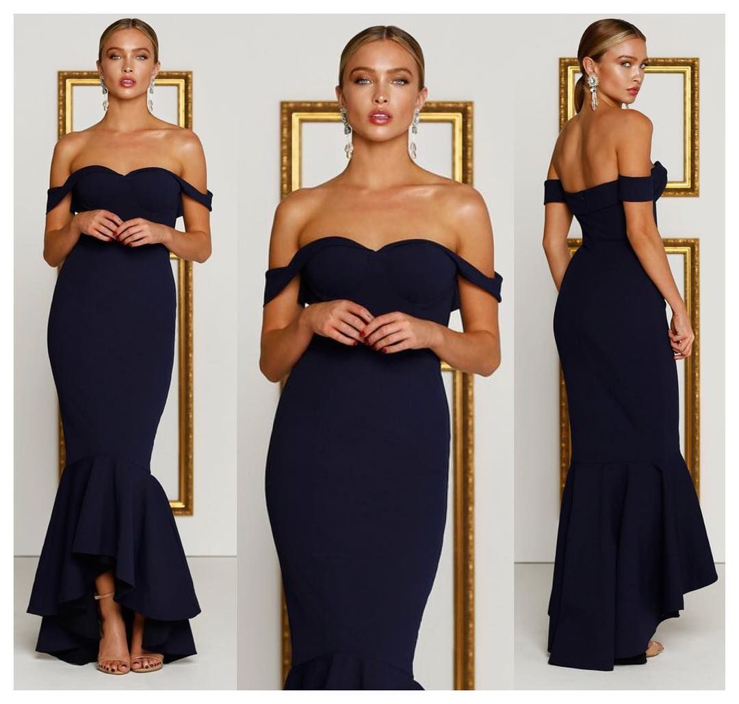 Show off your curves in our stunning sapphire dress available