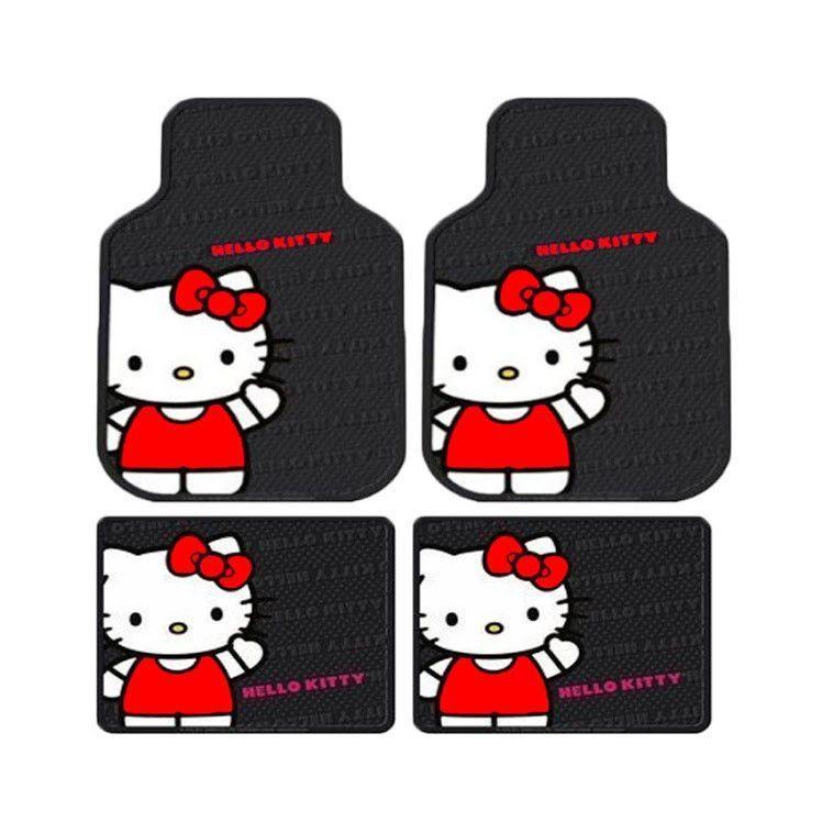 d7fbec218 Hello Kitty Core Floor Mat Set   car♡   Hello kitty, Rubber floor ...