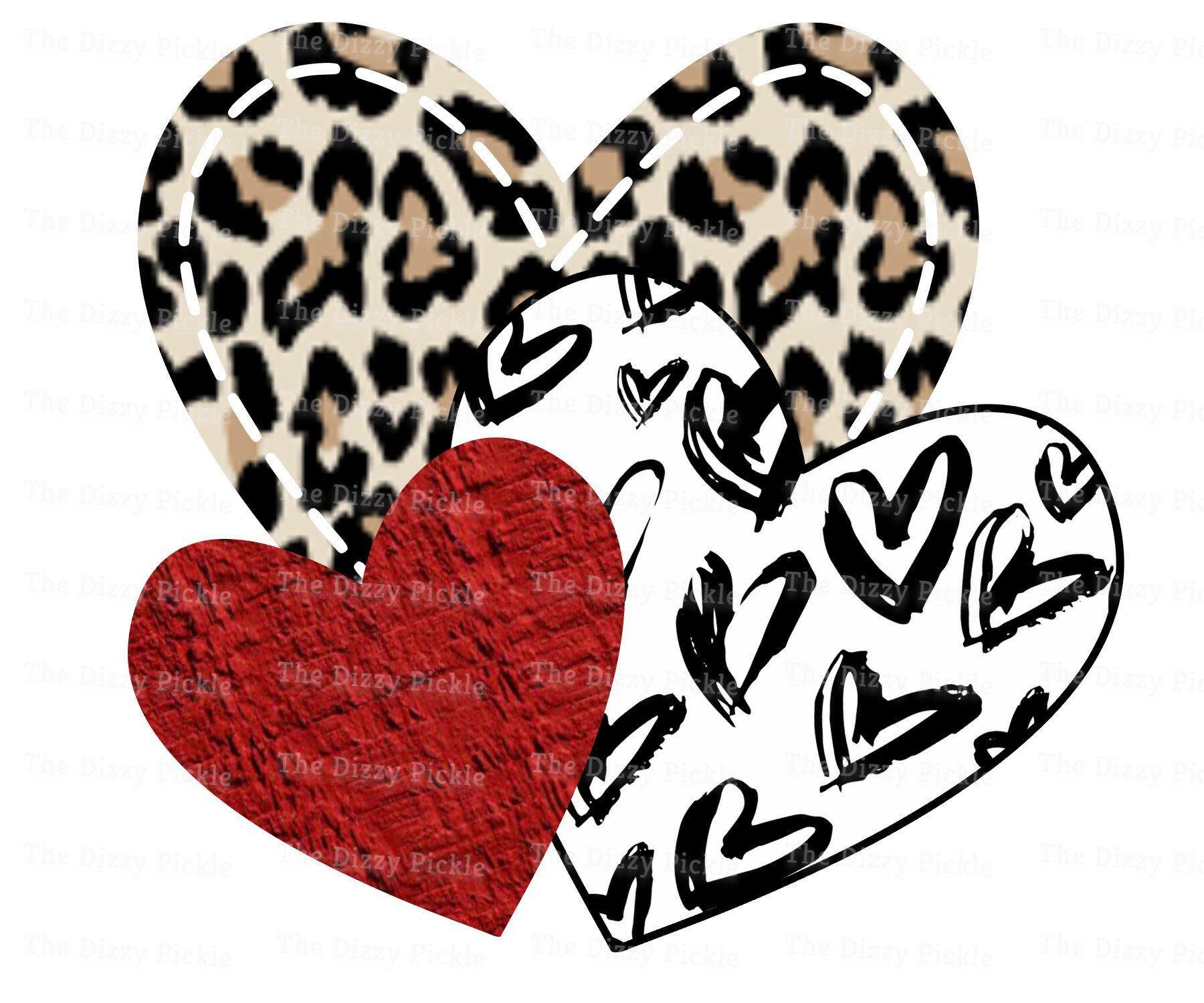 Heart Sublimation Design - Hearts - Leopard Heart