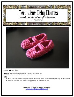 Knotty Generation Mary Jane Booties | Crocheting | Pinterest