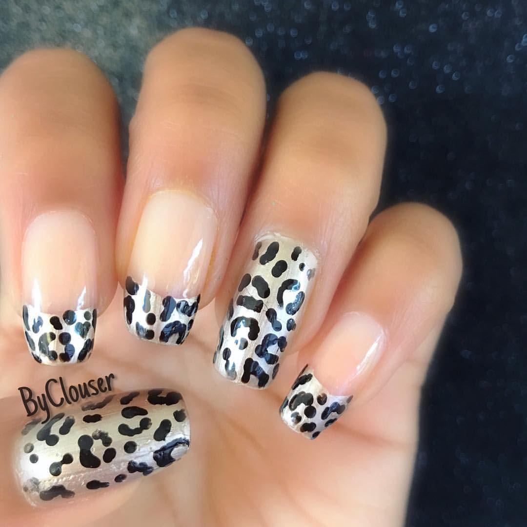 Easy Cheetah Print Nail Art Wild Nails Nails Design Pinterest