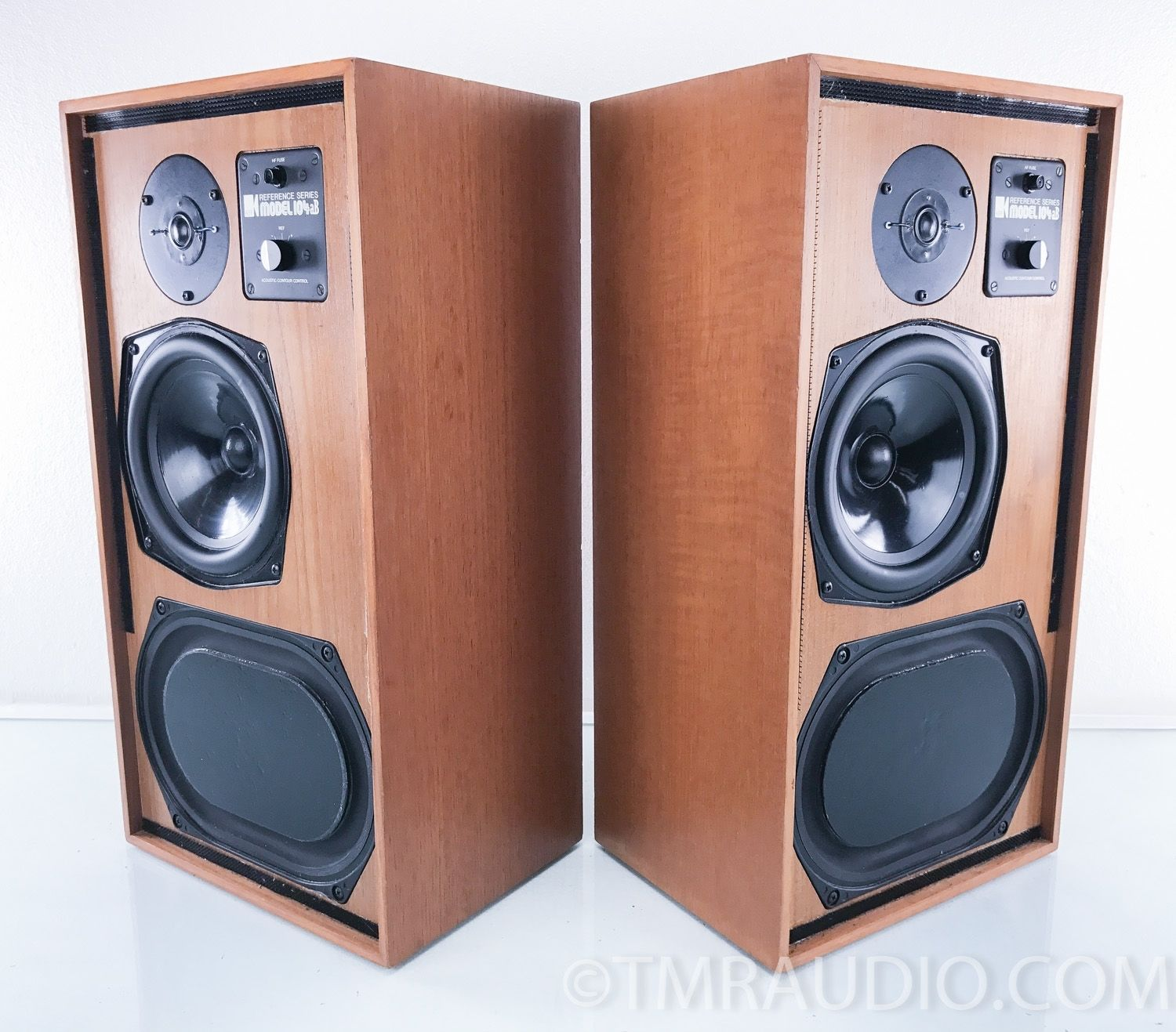 KEF 104aB Vintage Speakers with Retro Mid mod Stands