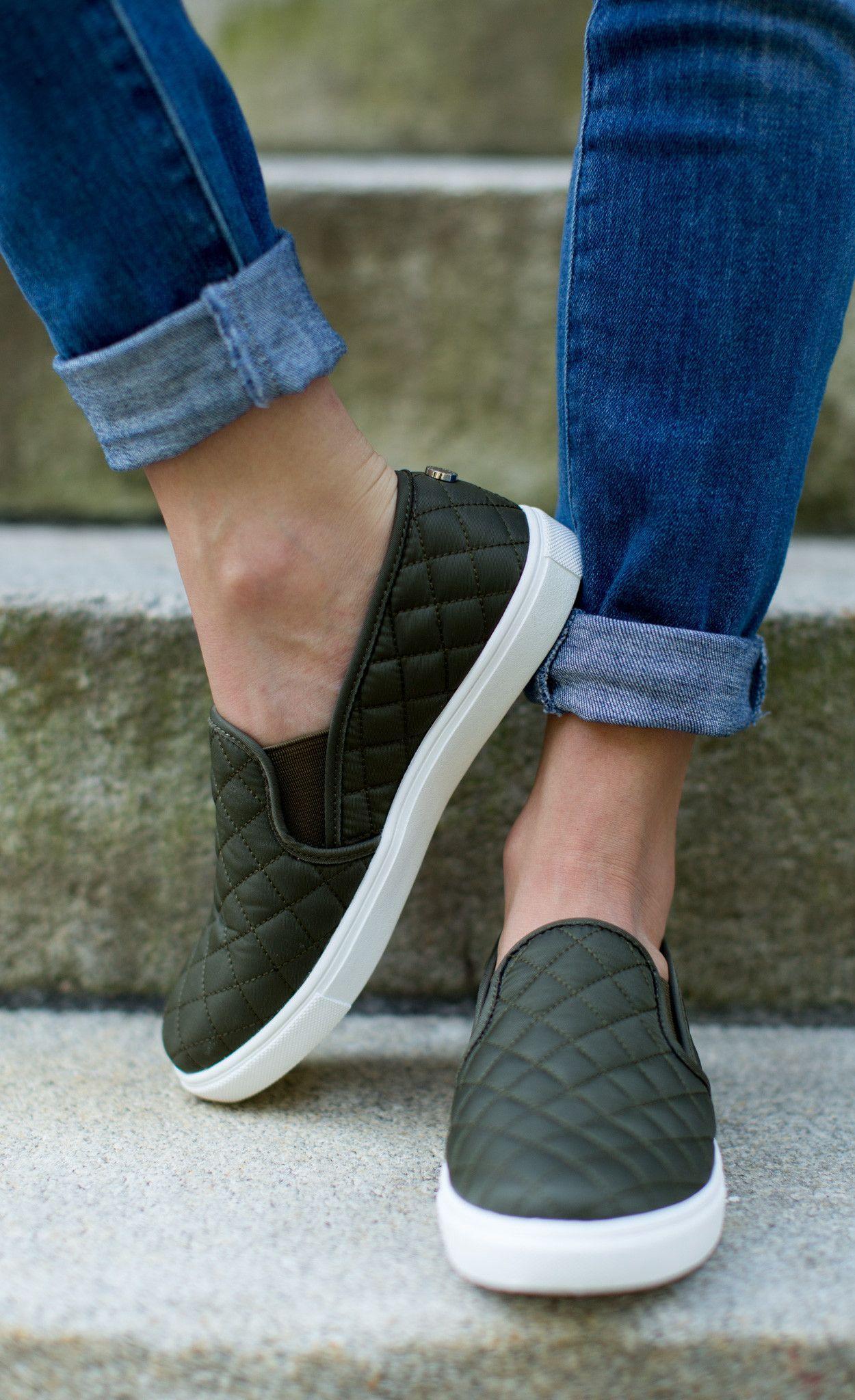 85ce019d753 Steve Madden - Shoe - Steve Madden Ecentrcq Sneaker - Olive - Cheeky Peach  Boutique - 1