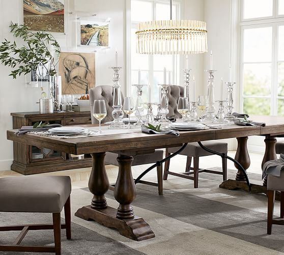 Pin By Angela Ferreira On Trang Tri Nha Cửa In 2020 Pottery Barn Dining Table Pottery Barn Dining Room Dining