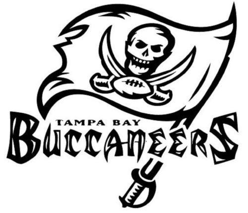 Tampa bay buccaneers nfl football logo vinyl decal car for Tampa bay buccaneers coloring pages