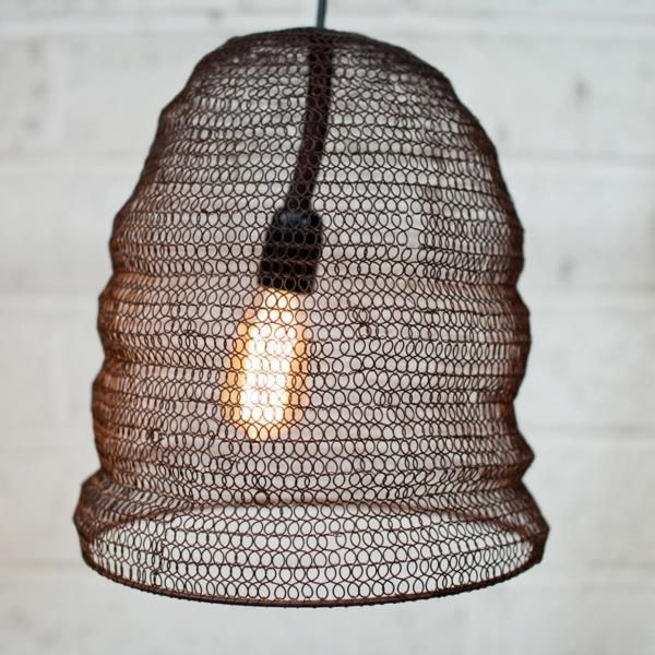 Metal Wire Mesh Pendant Light Lamp Shade Oval Industrial Loft Style