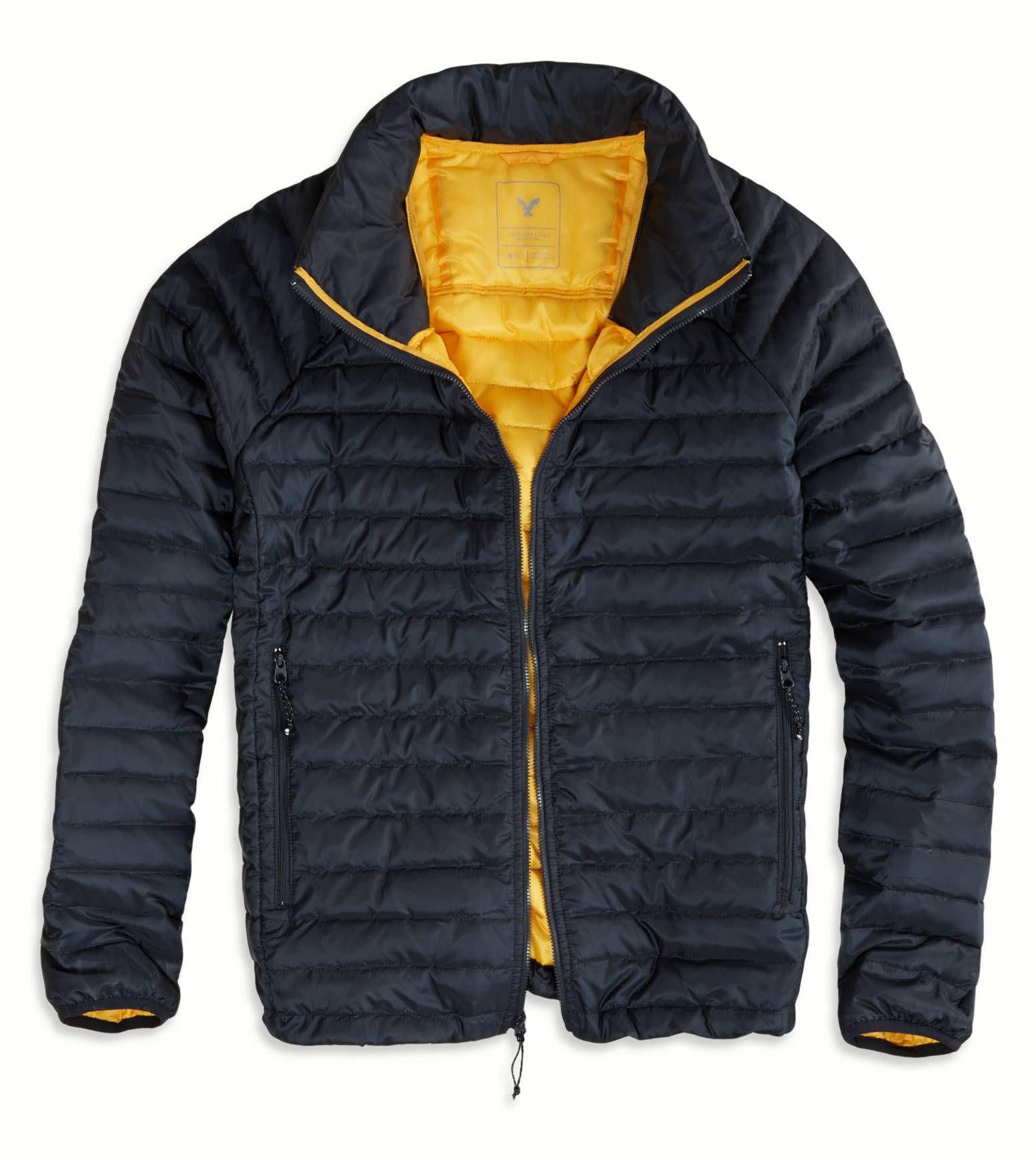 American Eagle Lightweight Puffer Jacket Navy 55 97 Mens Outfitters Women Jeans Clothes For Women [ 1739 x 1553 Pixel ]