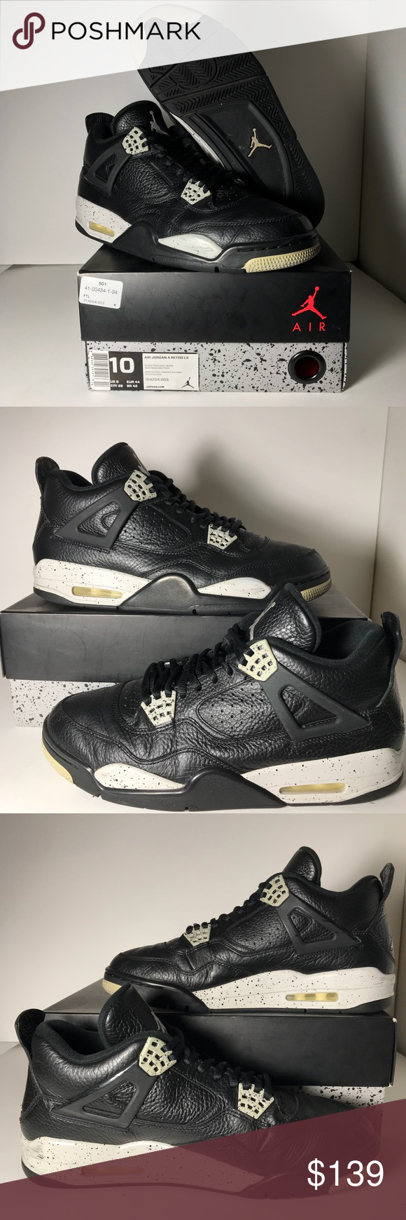 """best service af1d6 05e23 Jordan 4 """"Oreo"""" Good condition on the 4s. The yellowing is ..."""