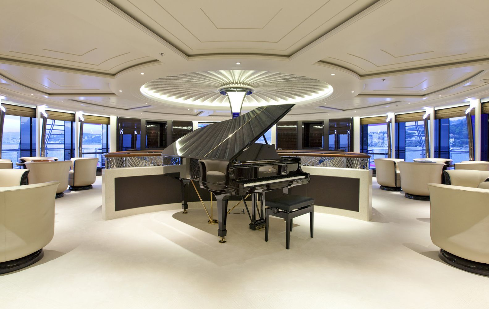 serene yacht interior wow experience yachts services. Black Bedroom Furniture Sets. Home Design Ideas