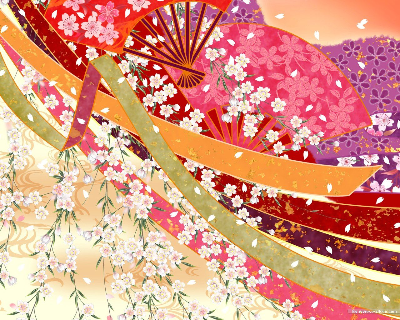 Japanese kimonos patterns design colorful patterns in for Chinese style wallpaper uk