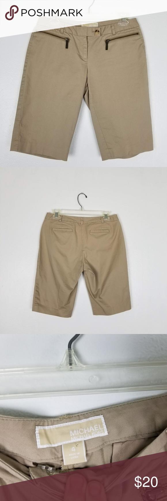 Classic Kors Style Bermuda Shorts Michael Great Of Khaki Pair hBrdtsCxQ