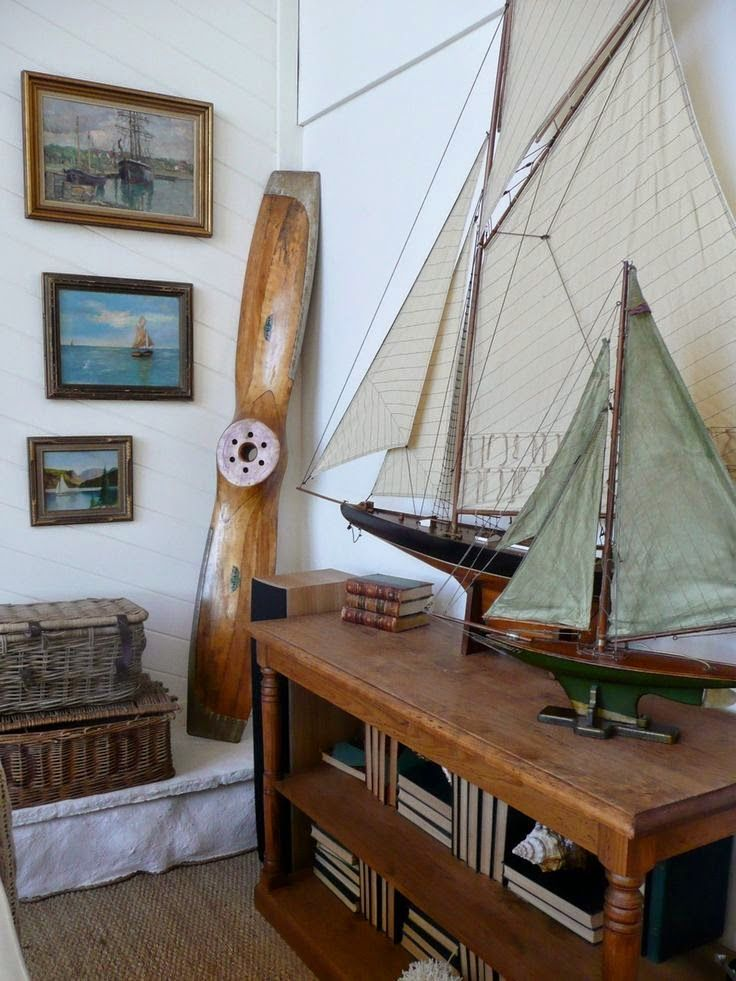 Decorating With Sailboats Coastal Bedrooms Homes Living Nautical Design