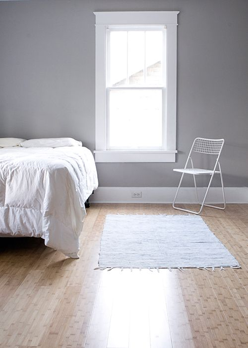 A Minimalist Nashville Abode Home To A Textile Designer Gray Bedroom Walls 1930s House Interior Home Minimalist white gray room paint