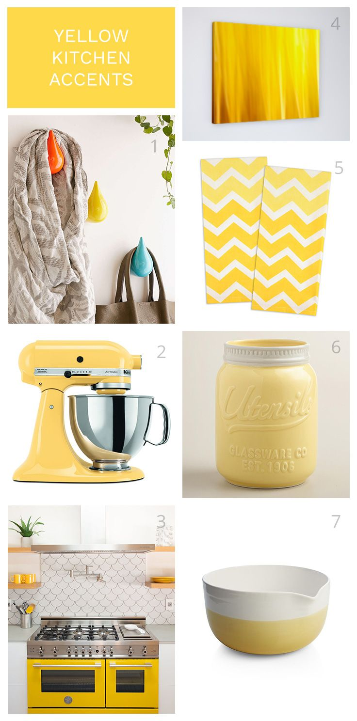 Yellow Kitchen Accents For Your Modern Coastal Home Yellow Kitchen Accents Yellow Kitchen Accessories Yellow Home Decor