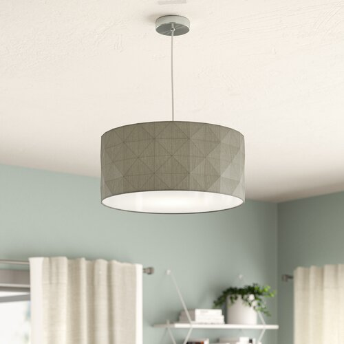 Lisdale 40cm Cotton Drum Pendant Shade Fjorde Co Colour Grey