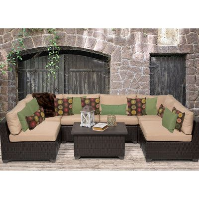TK Classics Belle 7 Piece Deep Seating Group with Cushion & Reviews | Wayfair