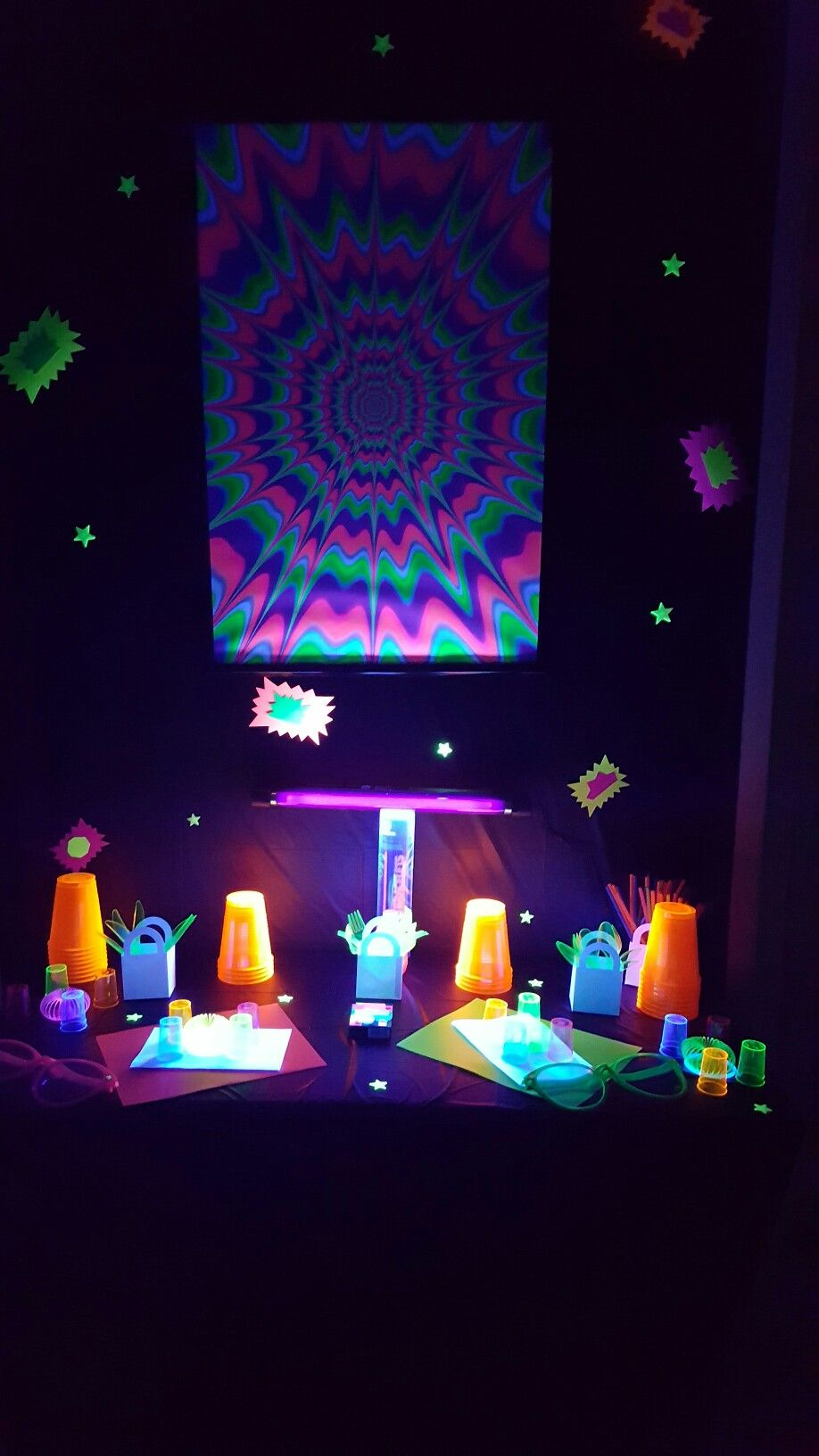 diy glow in the dark decoration dollar tree style.. | party
