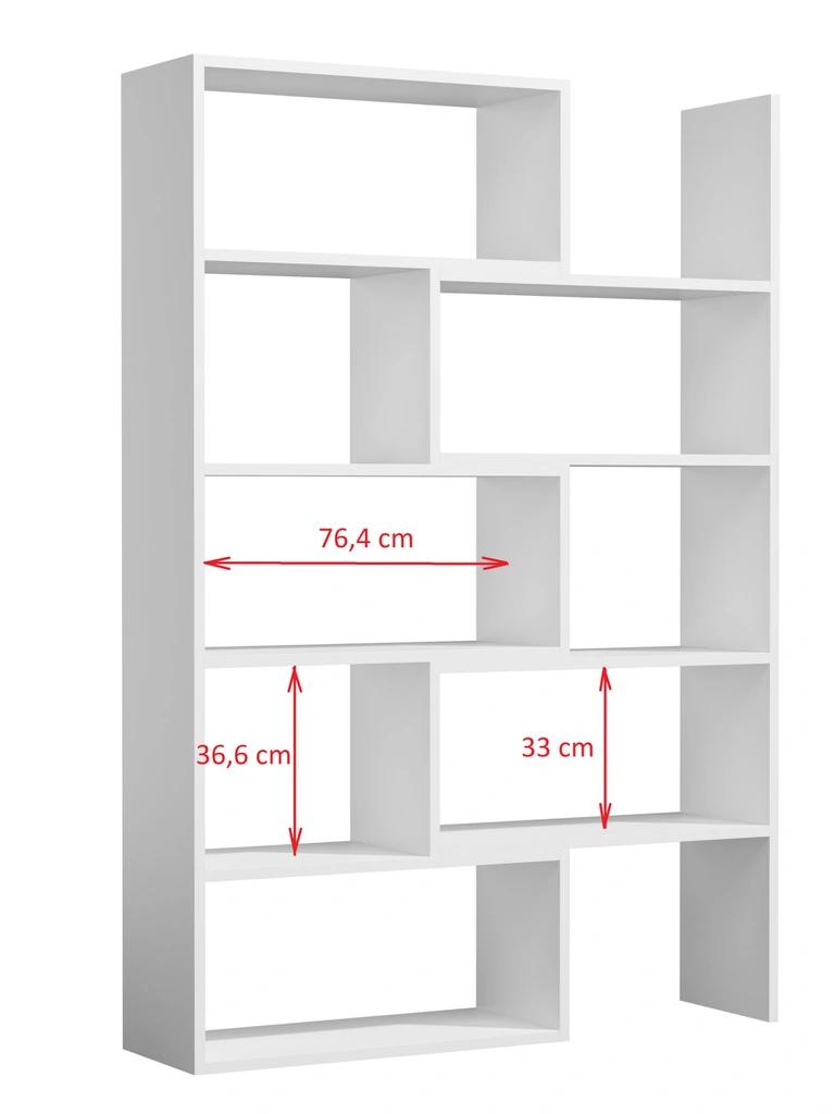 Regal Rozsuwany Bialy Duzy Polka Nowoczesny Biuro Shelving Shelving Unit Shelves