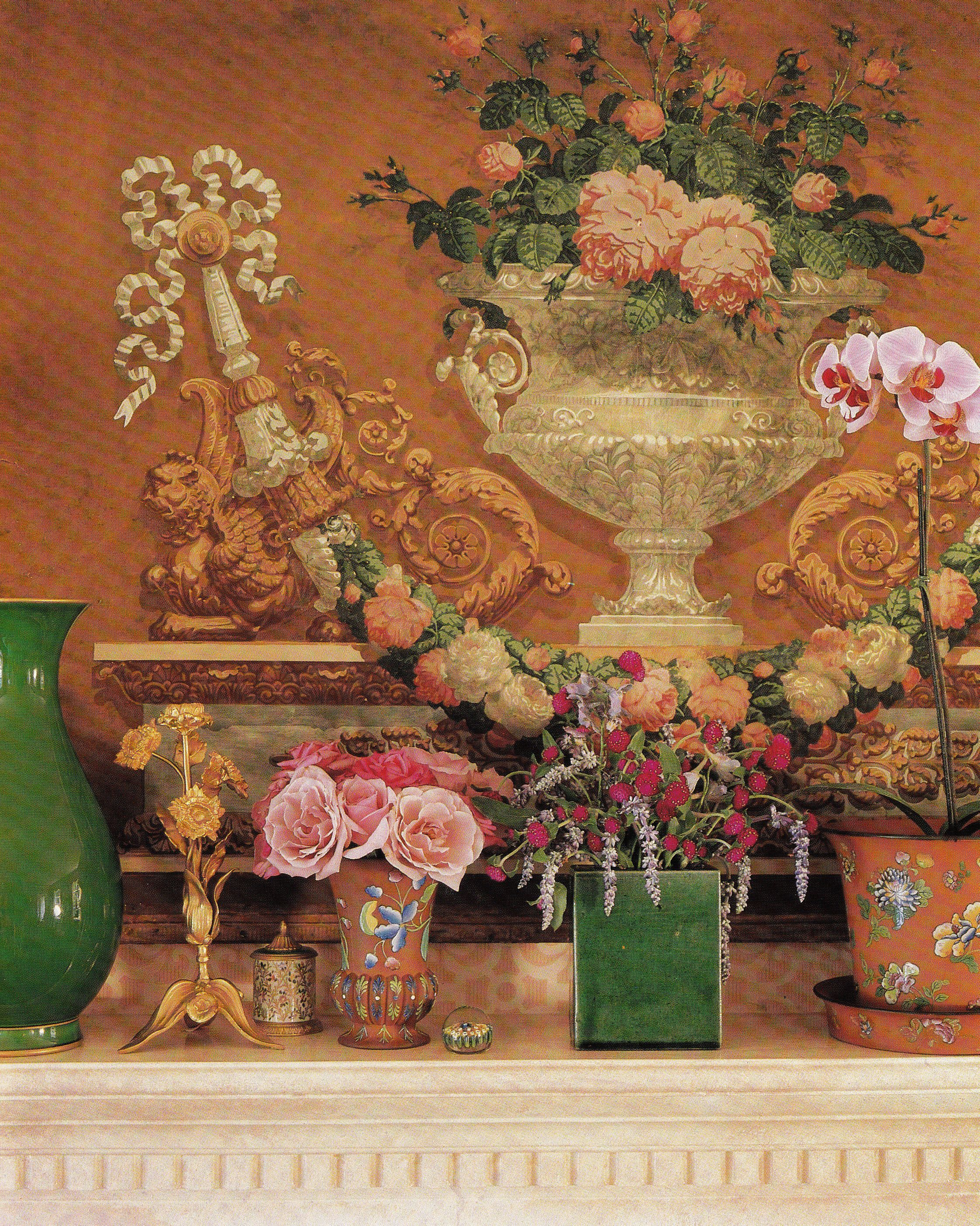 Wallpaper Designs For Living Room In India: Antique French Wallpaper