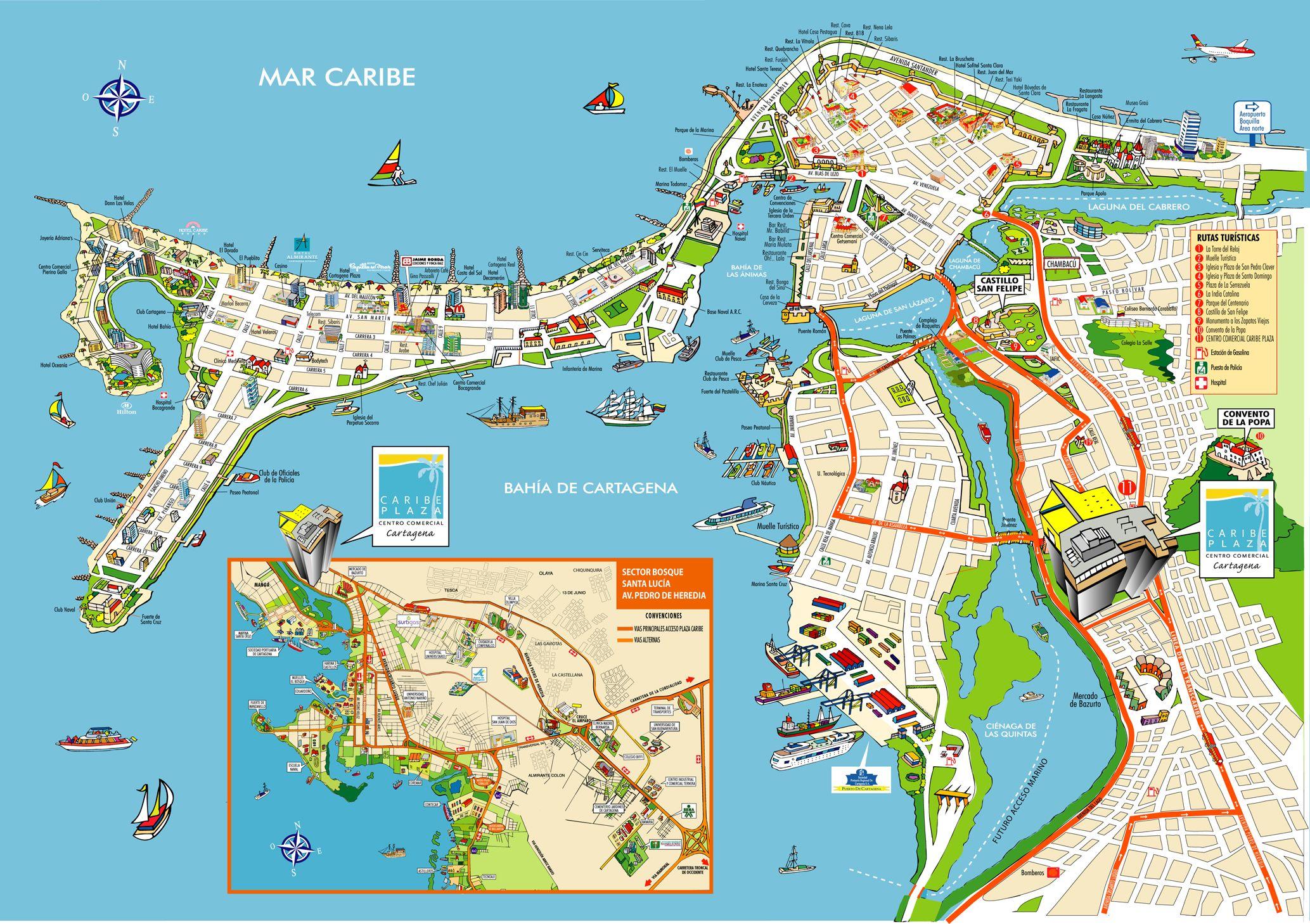 Cartagena De Indias Colombia Map Cartagena De Indias Mappery