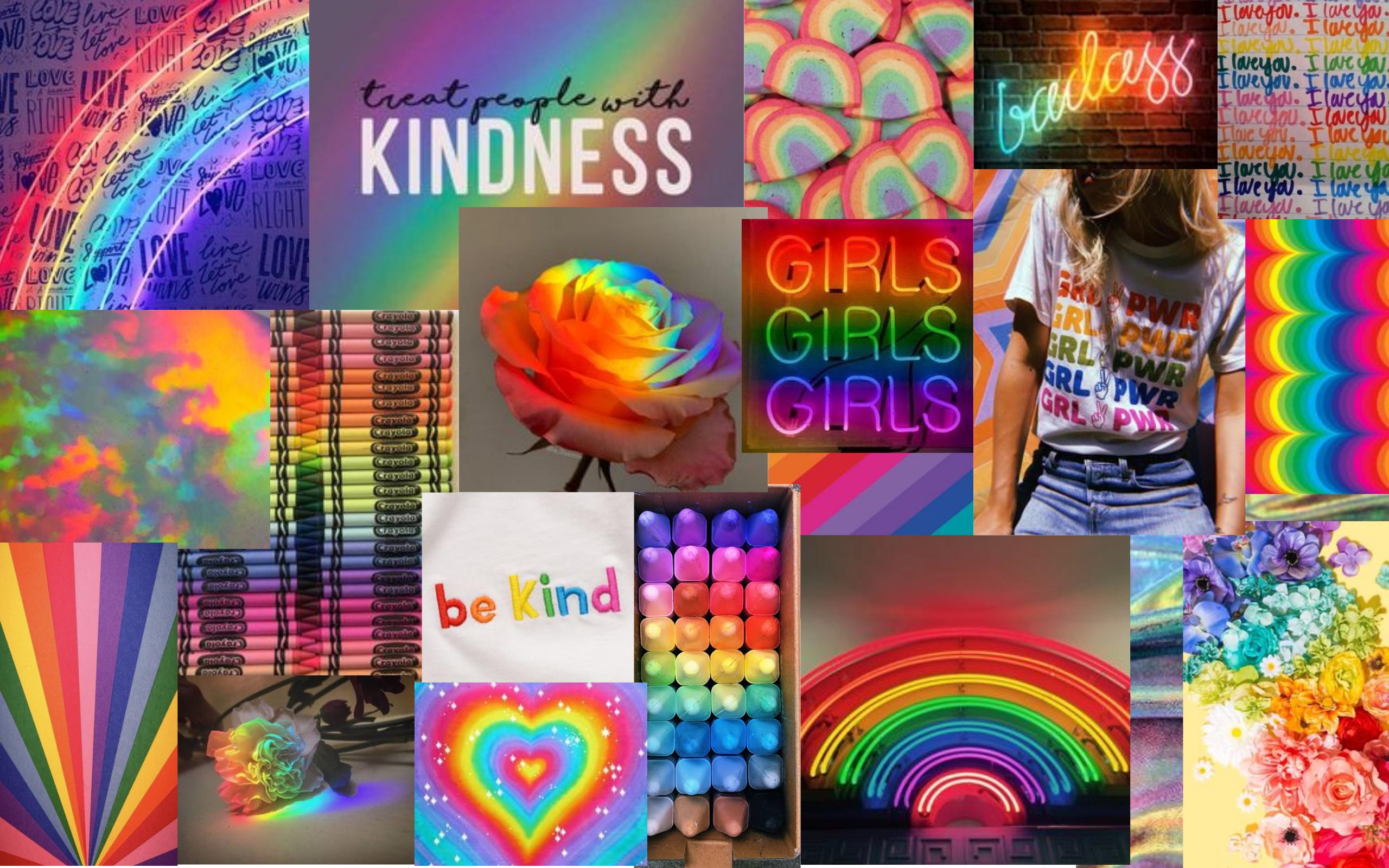 Rainbow Aesthetic Wallpaper In 2021 Rainbow Aesthetic Rainbow Wallpaper Laptop Wallpaper