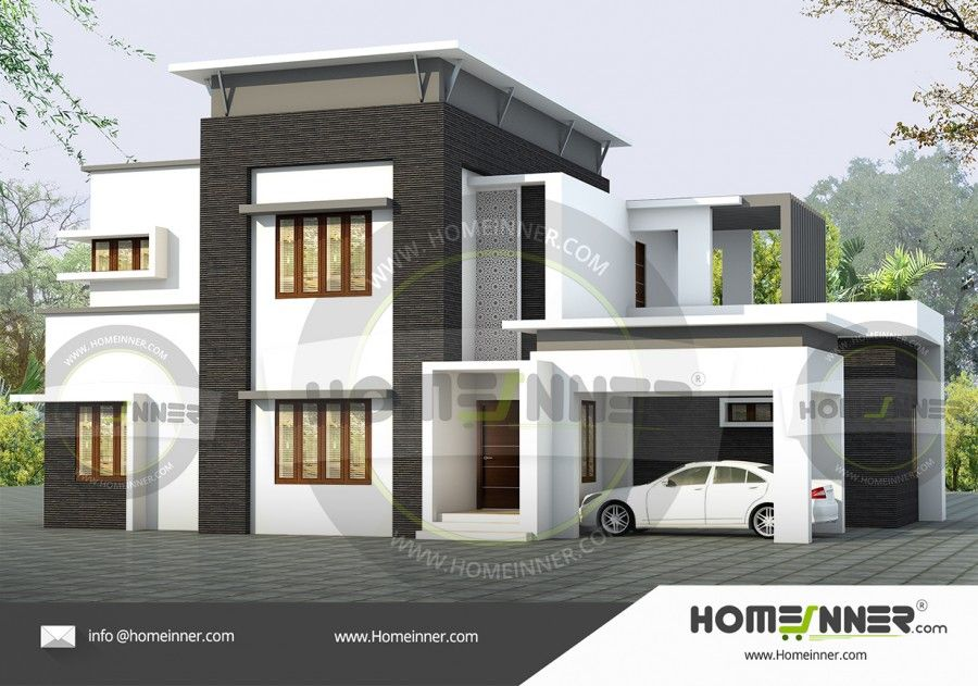 2600 sq ft modern kerala villa design free house plans home rh pinterest com