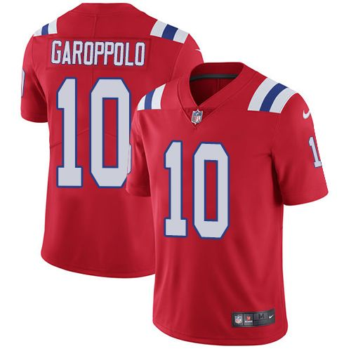 fc74411b4 Nike Patriots  10 Jimmy Garoppolo Red Alternate Youth Stitched NFL Vapor  Untouchable Limited Jersey And  Eric Berry jersey