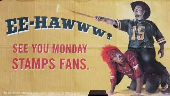 Calgary/Edmonton rivalry.......Go Stamps! #Stampeders #Calgary #Eskimos #Edmonton
