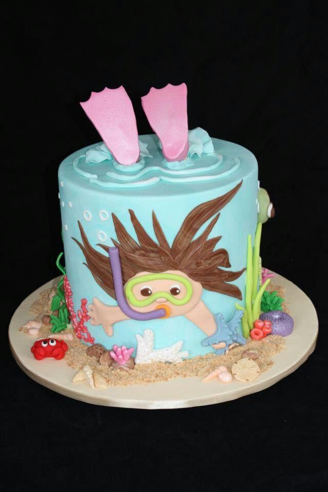 Swimming Cake Natacion Pinterest Swimming Cake Cake And Birthdays