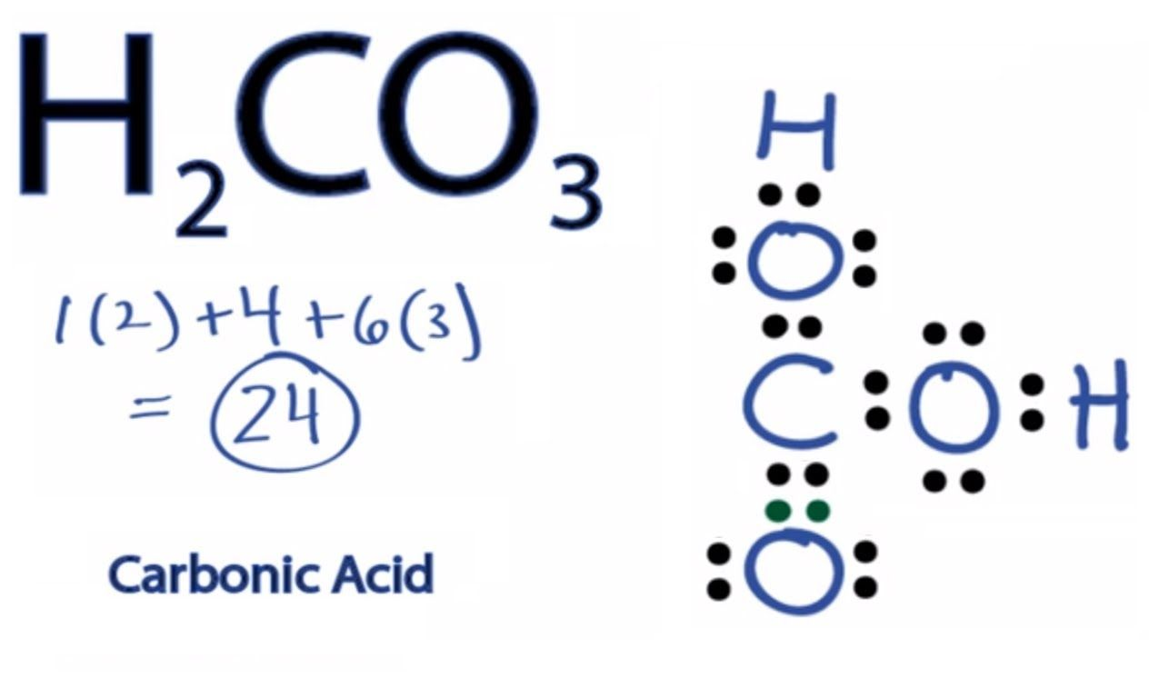 H2co3 Lewis Structure How To Draw The Lewis Structure For