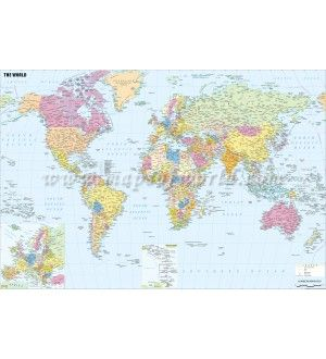 Buy world maps from online map store world map pinterest buy world maps from online map store gumiabroncs