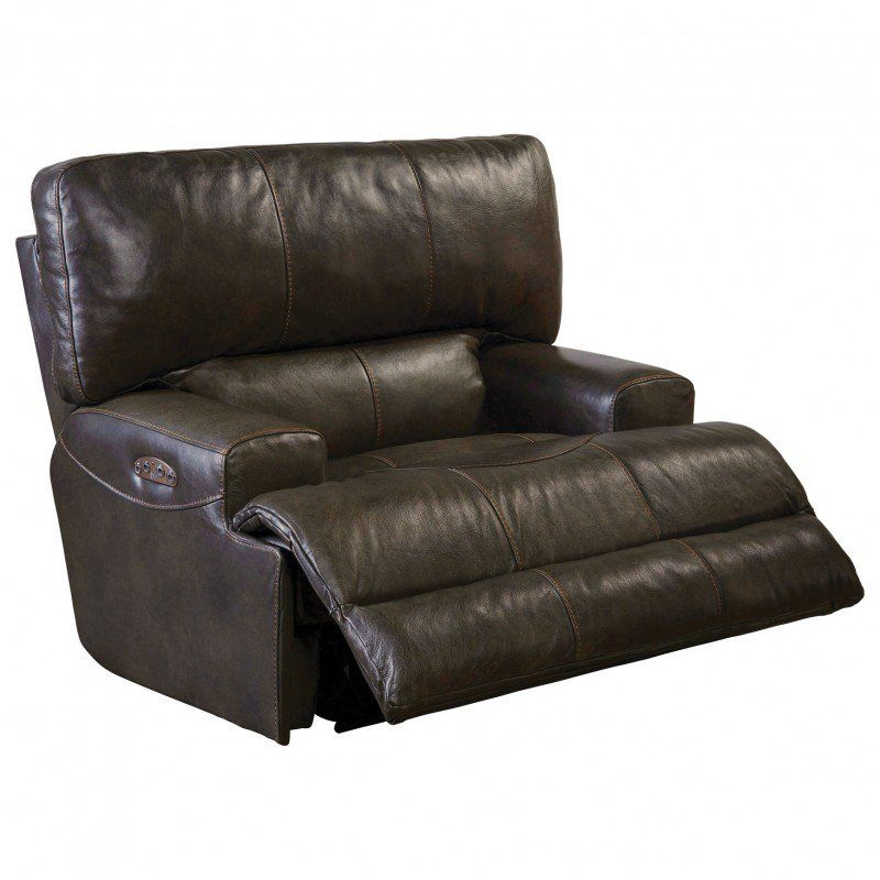 Fantastic Catnapper Wembley Leather Power Lay Flat Recliner With Power Pabps2019 Chair Design Images Pabps2019Com