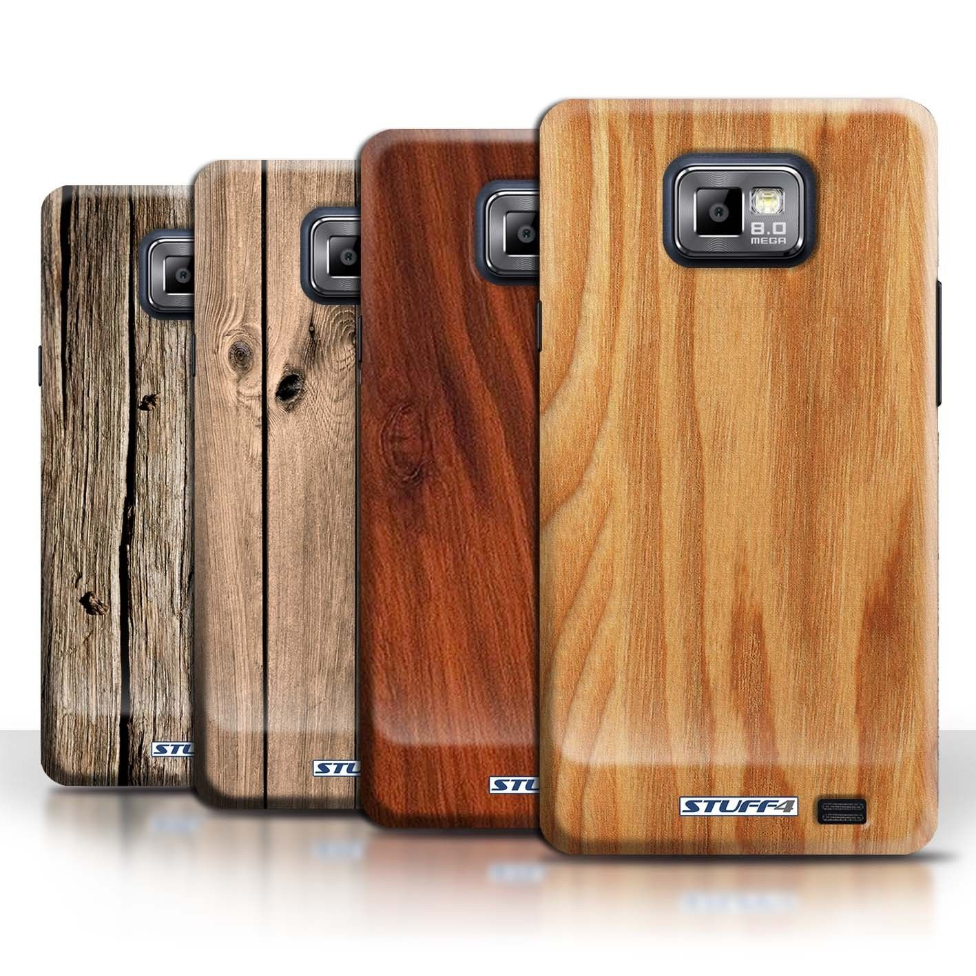 Stuff4 Back Case Cover Skin For Samsung Galaxy S2 Sii Wood Grain Effect Pattern