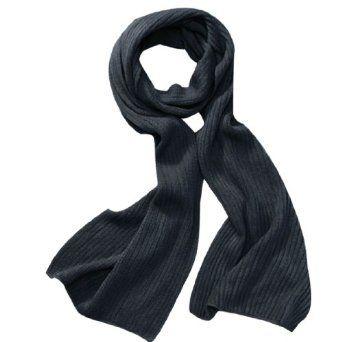 """Allegra K Men Textured Detail Stretchy 11.8"""" Width Soft Winter Scarf Wrap Dark Gray Allegra K. $9.15"""